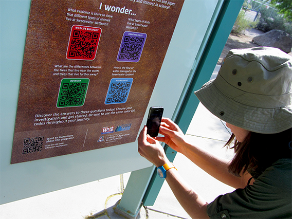 Tucson scanning discovery journey QR codes